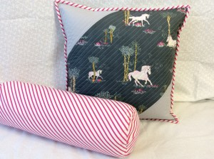 Fantasia fabric unicorn throw pillows main image