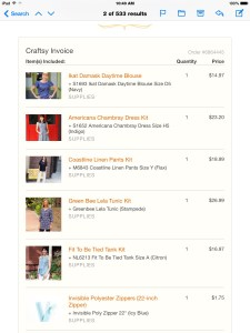 Craftsy order sewing patterns clothing garments kits patterns