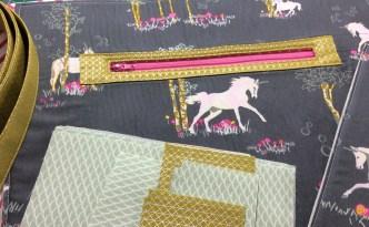 Fantasia art gallery fabrics sew sweetness sara lawson tudor bag in progress wide