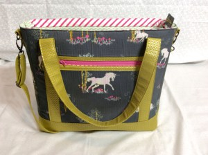 Sew Sweetness Tudor Bag Fantasia Art Gallery Fabrics unicorn purse front medium