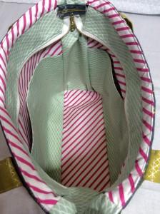 Sew Sweetness Tudor Bag Fantasia Art Gallery Fabrics unicorn purse interior medium view