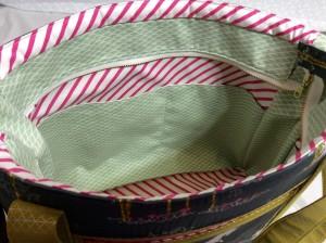 Sew Sweetness Tudor Bag Fantasia Art Gallery Fabrics unicorn purse interior medium view wide