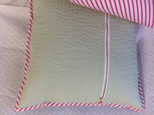 Fantasia fabric unicorn throw pillows back miniature hills dew