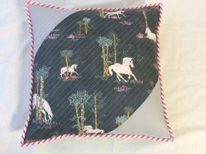 Fantasia fabrics sara lawson art gallery fabrics unicorn quilted pillow