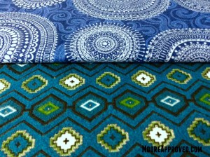Moore Approved Connecting Threads Flannel Quilting Cotton Symphony of Blues Cartouche Print