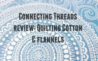 Moore Approved Connecting Threads Quilting Cotton Symphony of Blues Cartouche print fabric Review Graphic