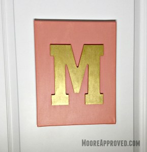 Moore Approved Canvas Art Acrylic Paint Target Hand Made Modern Art Letter M Monogram Door Hanging