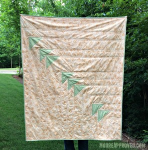 Moore Approved Priory Square Steeping Awakening Gold Roses Cotton and Steel Flying Geese Quilt Full Shot