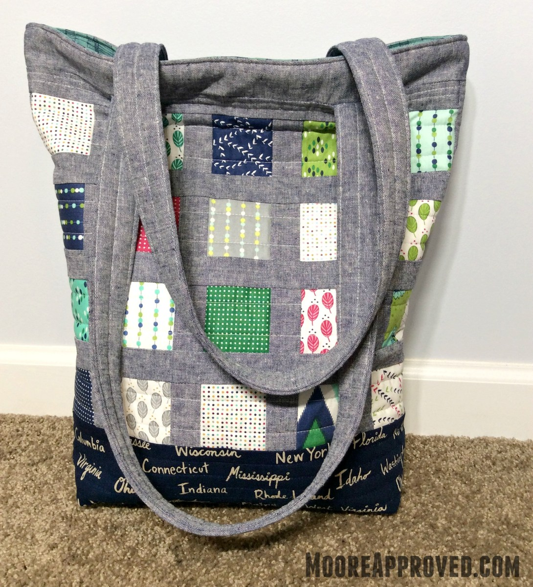 Making A Quilted Patchwork Tote Bag Moore Approved