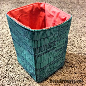 Pellon Flex Foam Fabric Basket Carolyn Friedlander Doe Fabric Robert Kaufman Sage Ladder