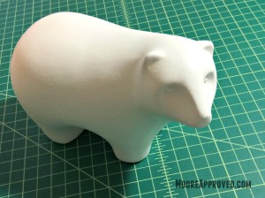 Target Handmade Modern Porcelain Bear Figurine White Chalk Paint Wax