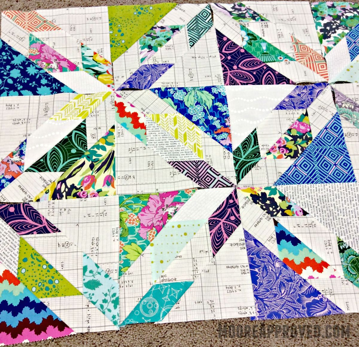New Quilt Patterns For 2015 : New Quilt in Progress: Scrappy Hunter s Star MOORE APPROVED