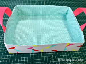 Moore Approved On The Go Fabric Basket Cotton and Steel Basics Prints Tray Empty Overhead