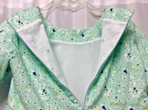 Moore Approved Simplicity Dress Pattern 1652 Art Gallery Fabrics Urban Mod Mint Green Triangles Print Lining