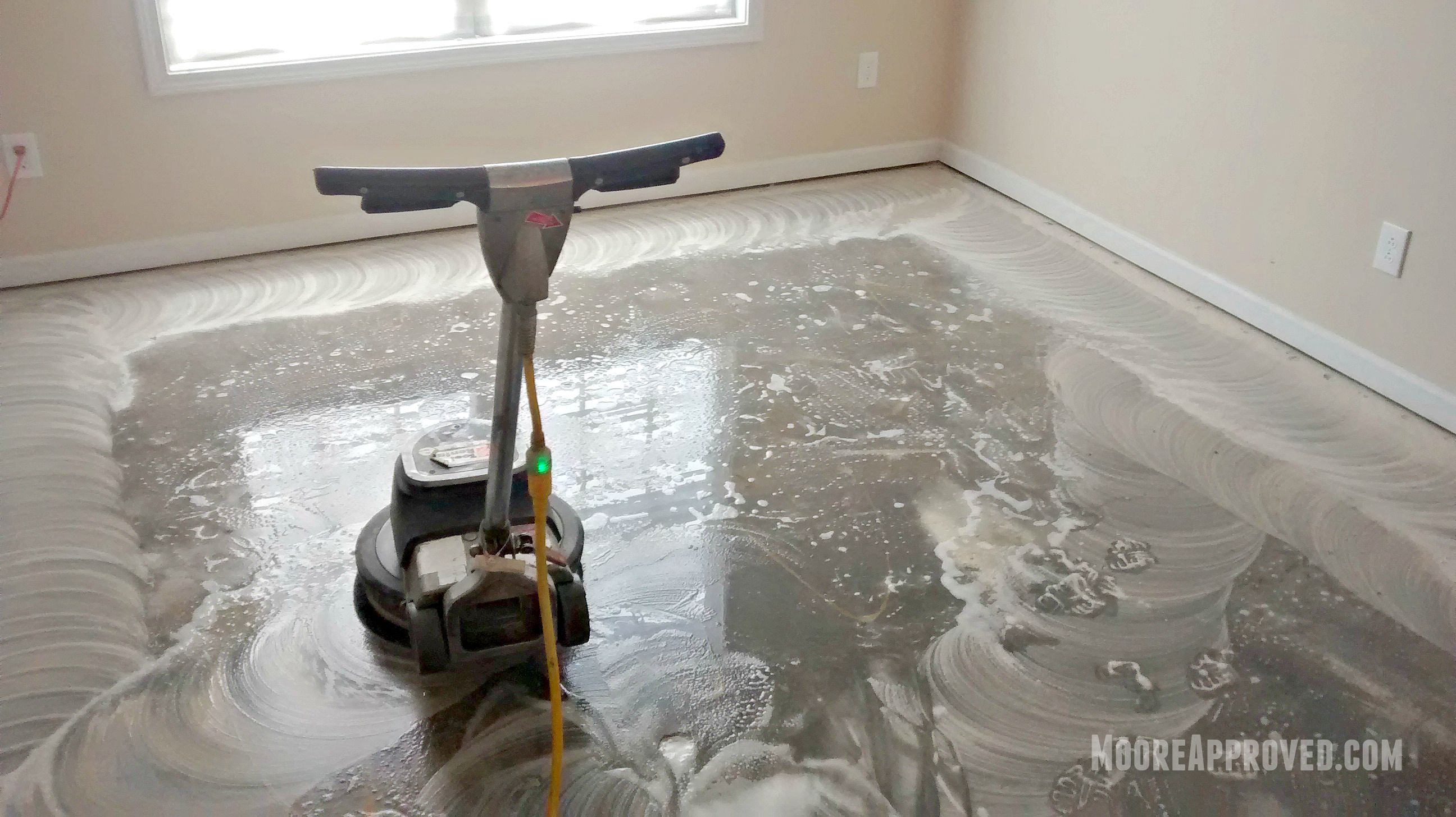 How to clean concrete floors for painting thefloors co for Mop for concrete floors