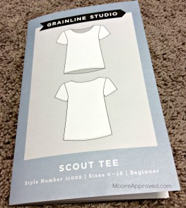 Moore Approved Grainline Studio Scout Tee Pattern shirt Booklet Front
