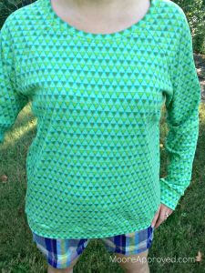 Moore Approved Linden Sweatshirt Grainline Studio Anna Maria Horner Pretty Potent Knits Grass Full Shot