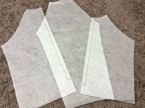 Moore Approved Linden Sweatshirt PDF pattern pages tracing paper