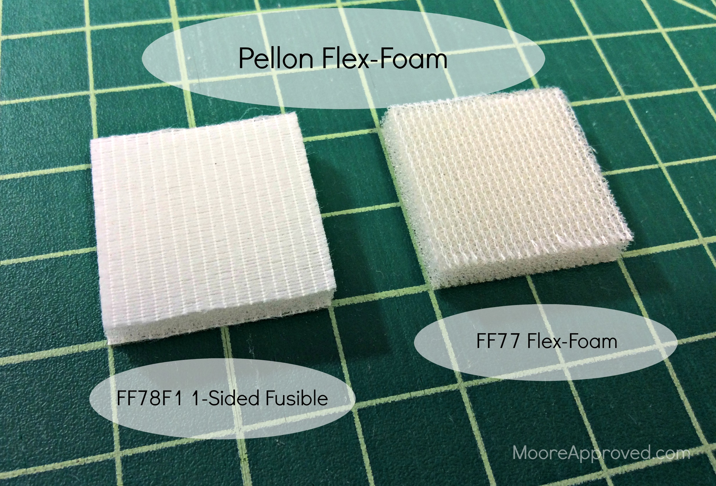 Pellon Flex-Foam: Sew-In vs  1-Sided Fusible – MOORE APPROVED