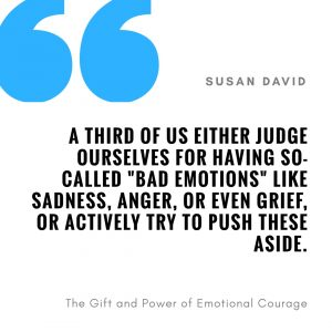"""A third of us either judge outserlves for having so-called """"bad emotions"""" like sadness, anger, or even grief, or actively try to push these aside"""