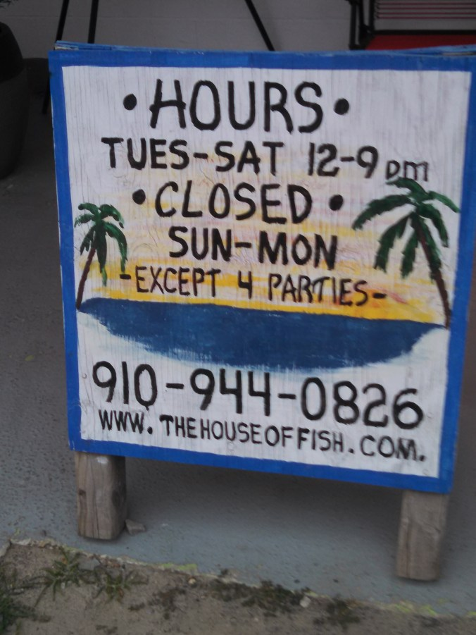 House of Fish hours