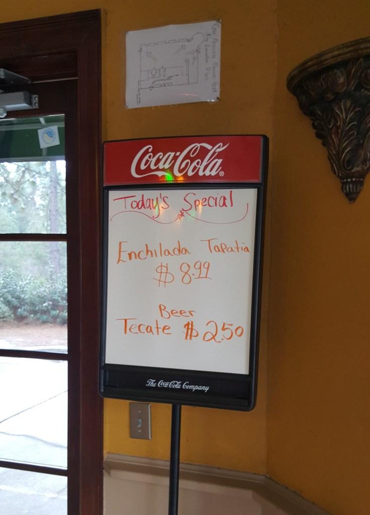 casa mexicana specials