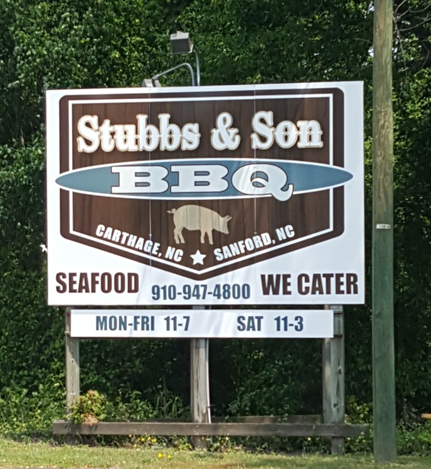 stubbs & sons bbq sign