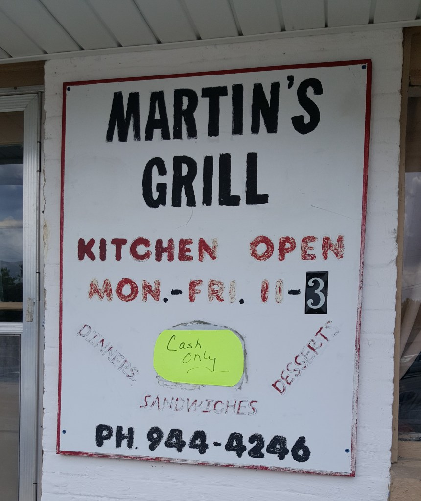 martin's grill sign