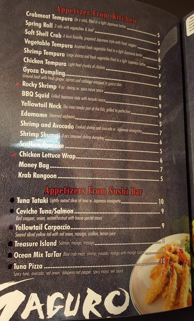 maguro menu