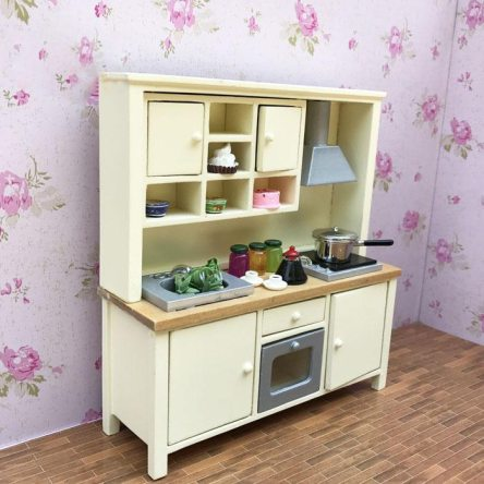 1:12 Miniature Wall Stove Cabinet Dollhouse Kitchen Counter Accessory