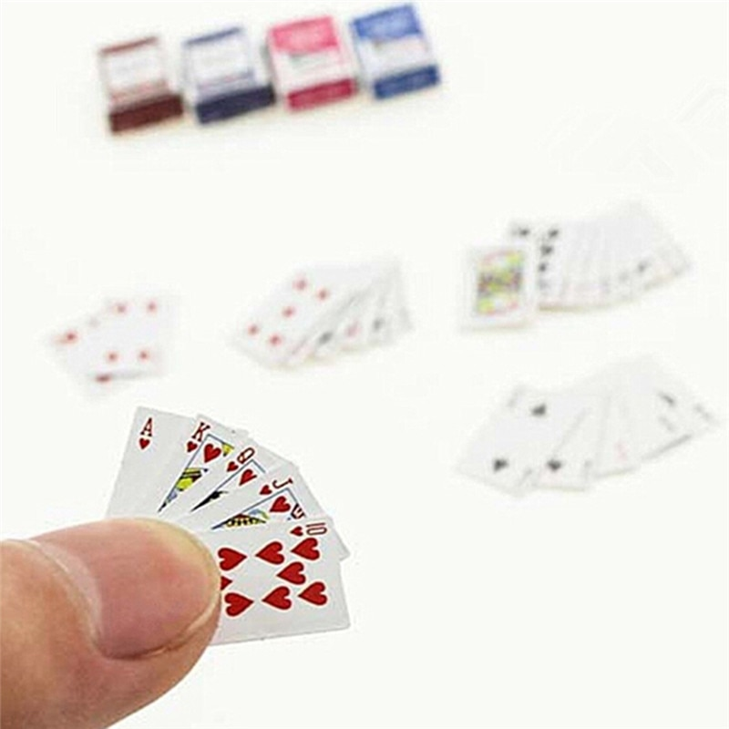 Miniature Deck of Cards 1:12 Dollhouse Playing Cards Doll House Small mini