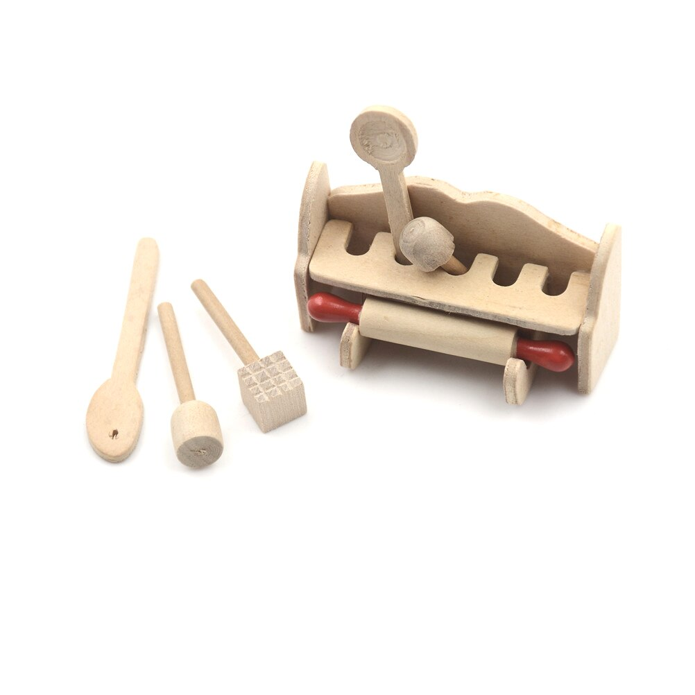 1:12 Wooden Simulation Kitchen Garden Miniature Doll House Accessory Tool