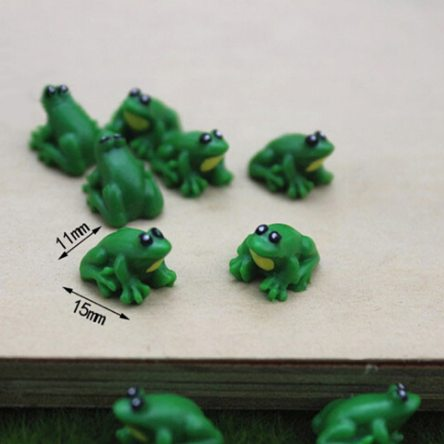 Miniature 2 Pcs Resin Frog Crafting Accessory