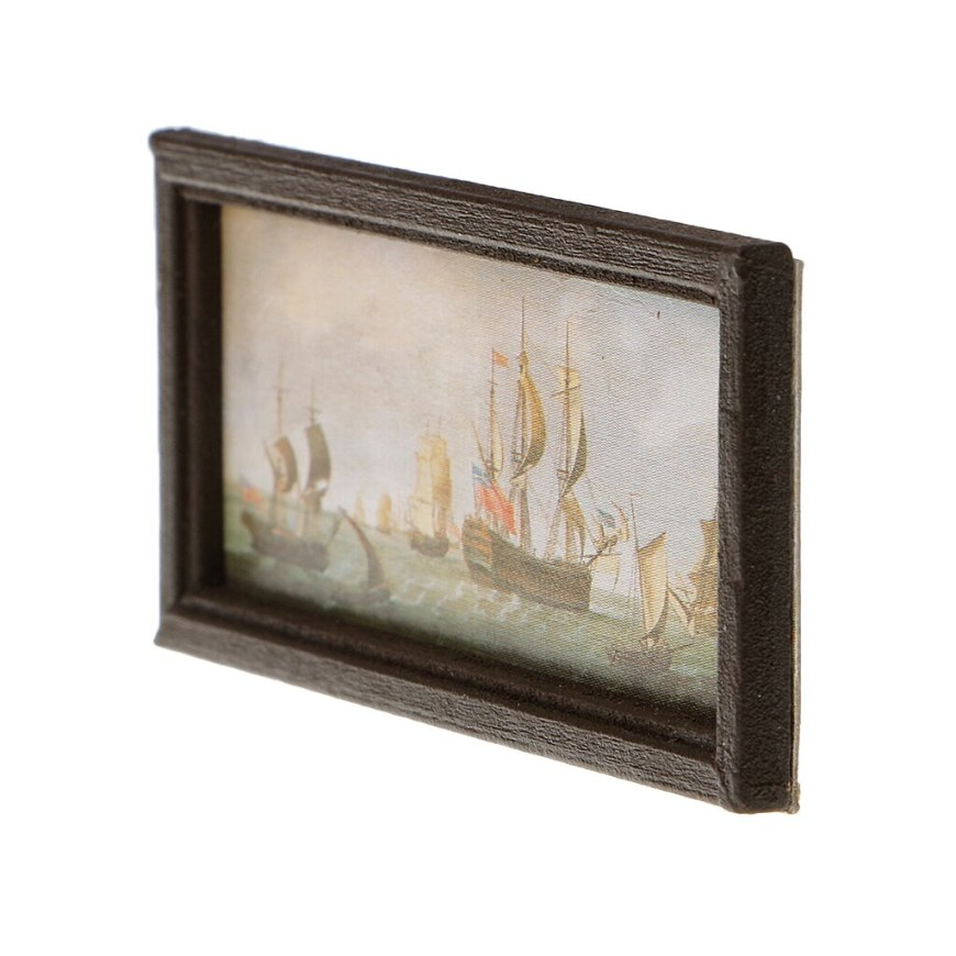 1:12 Scale Wooden Framed Picture Decorative Ornaments Dollhouse Miniature Decorative Picture