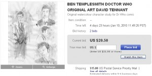 Templesmith Doctor Who art sale