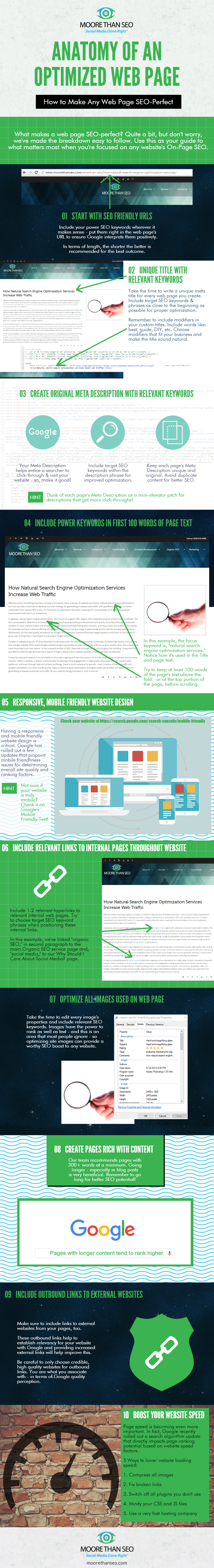 Infographic shows website optimization basics