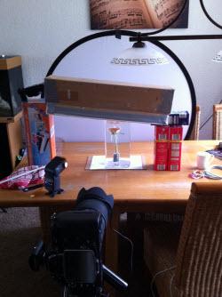 Strobist Experiment Roos Water Bubbels Setup