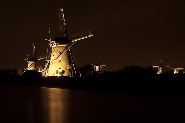 Woordloze Woensdag Kinderdijk Molen Nacht Nachtofotografie