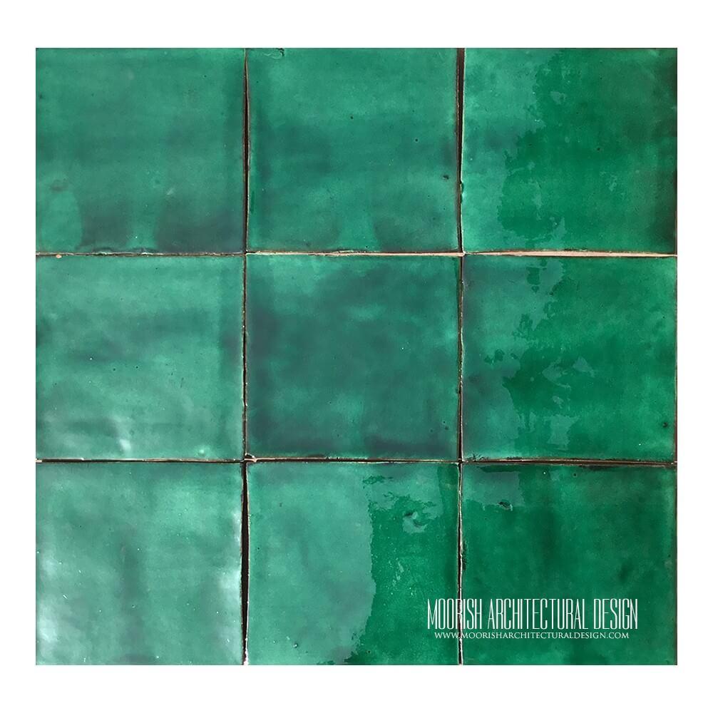 Green Kitchen Wall Tiles