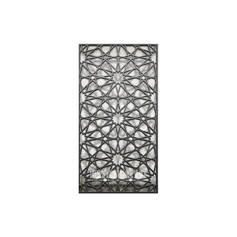 Islamic Geometric Lattice Pattern Moroccan Decorative