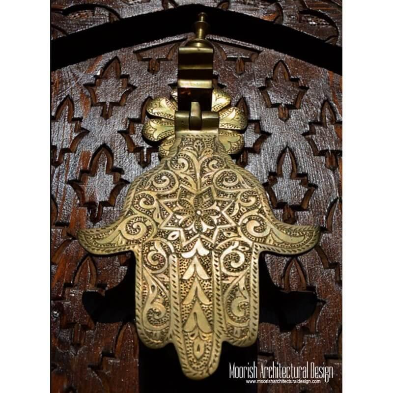 Moroccan Brass Hand Door Knocker New York
