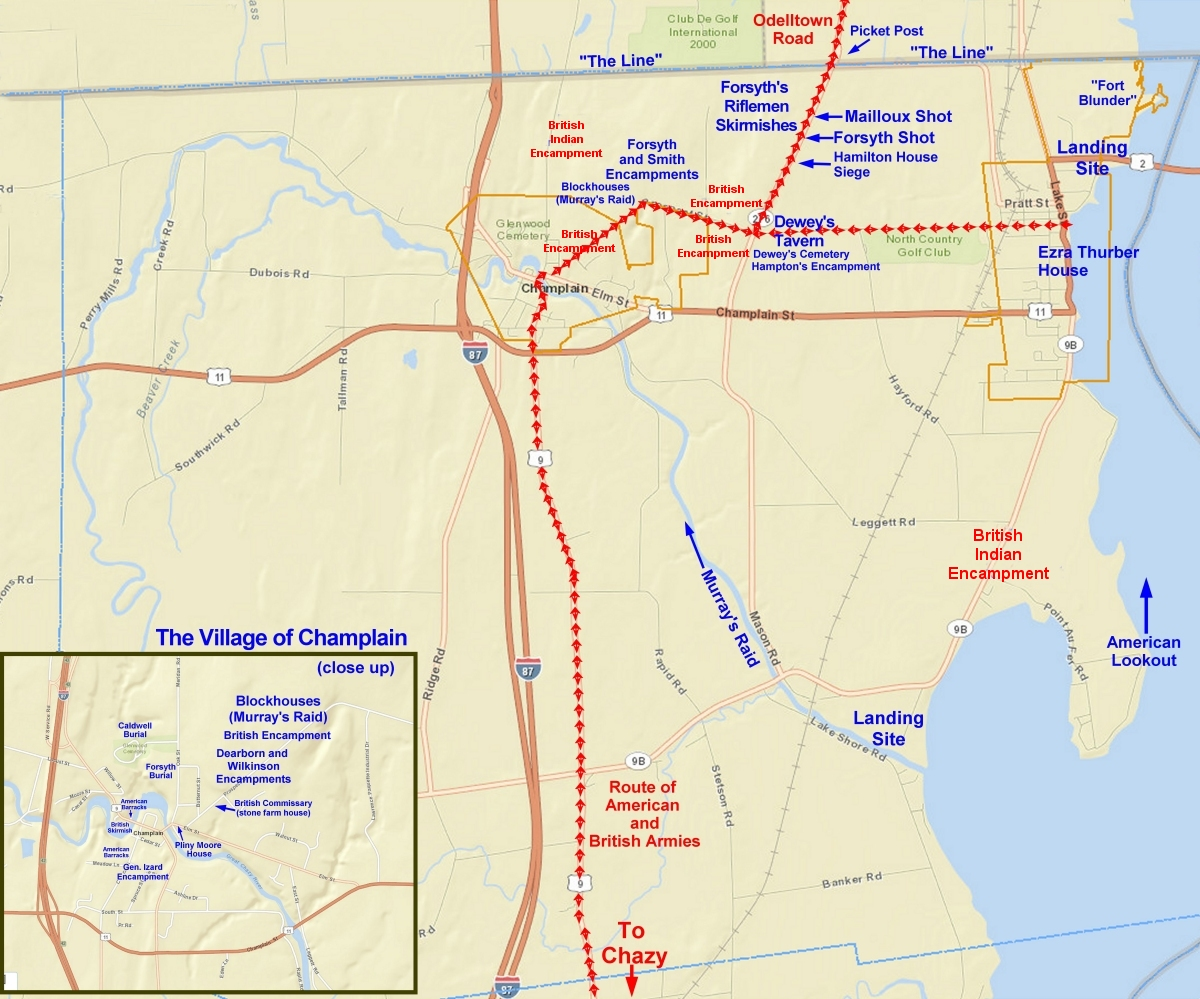 Town Of Champlain In The War Of Interactive Map