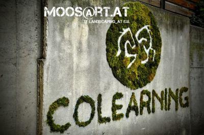 Moosgraffiti by moosart - Colearning Wien