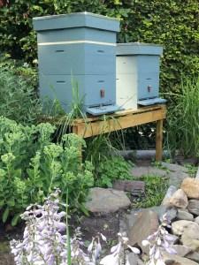 Bijenkast verven Bohus Blå