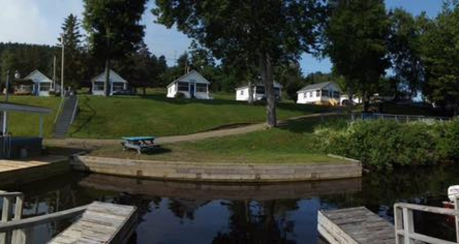 Cottages from Dock on Moosehead Lake