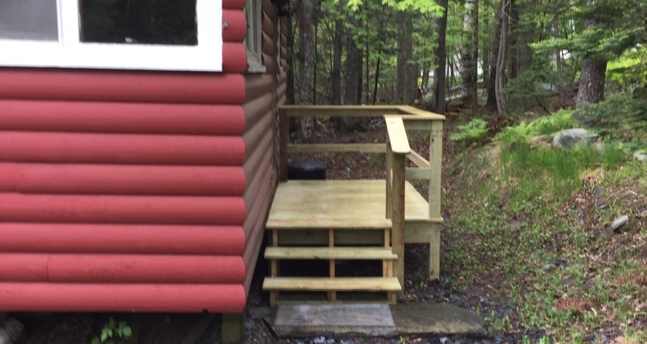 Entry to Moosehead Vacation Rental, Greenville
