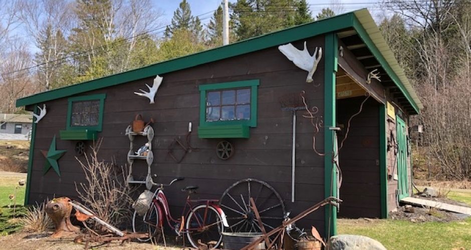 Guest garage at Lodge at Moosehead