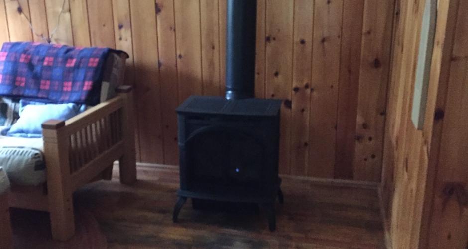 Propane stove at Maine Highlands Rental