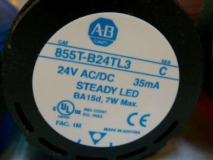 855T-Stack-Light-LED-Allen-Bradley-Blue-Green-Red-w-base-855T-BCB-ser-B-5