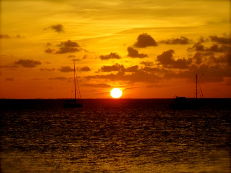 Sunset over Abaco